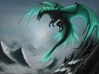 Dragon bleu vert